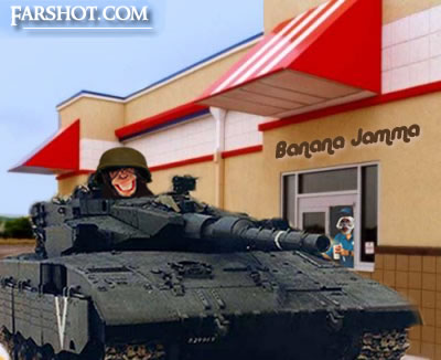 I'd like a bannana shake and a couple of missles to go, please!