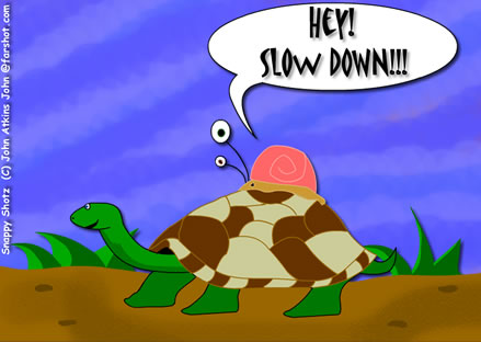 Hey!  Slow Down!!!  What in the hell do you think you're doing?